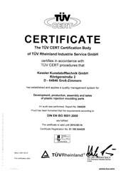 TUEV-Certificate - english